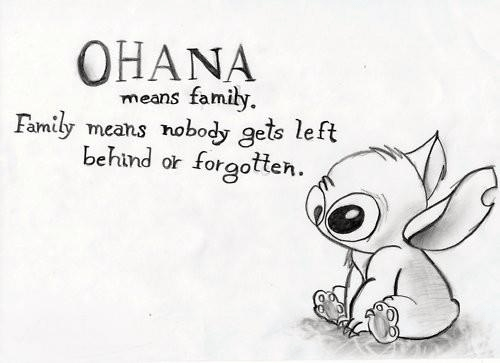 Family Meme Ohana means family means nobody gets