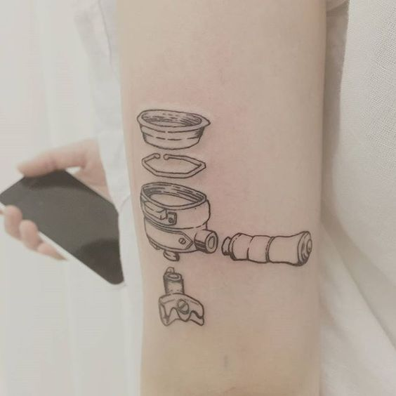 Famous Coffee Tattoo On Arm for For ladies