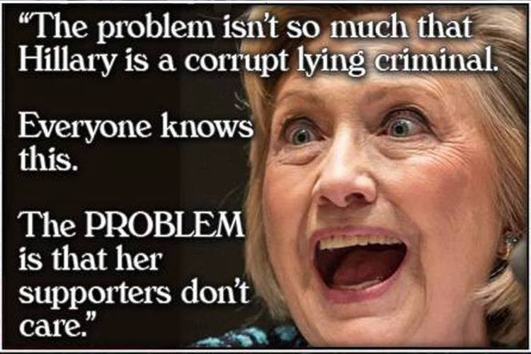 Funny Hillary Clinton Meme The problem isnt so much that hillary is a corrupt