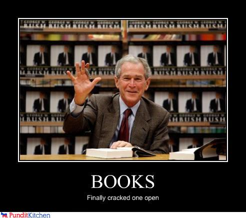 George Bush Meme Books finally cracked one open