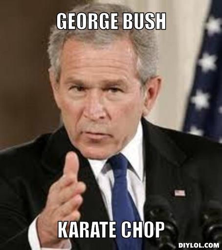 George Bush Meme George bush karate chop