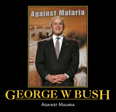 George w bush against malaria George Bush Meme