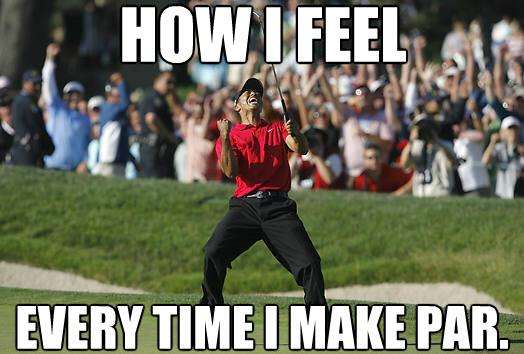 Golf Meme How i feel every time i make par