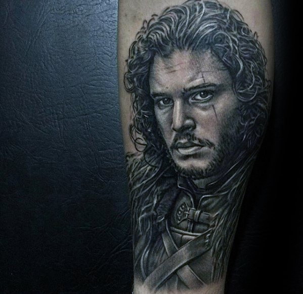 Groovy Game Of Thrones Tattoo On Full arm