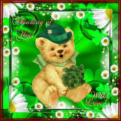 Happy St. Patrick's Day Thinking Of Love With Love