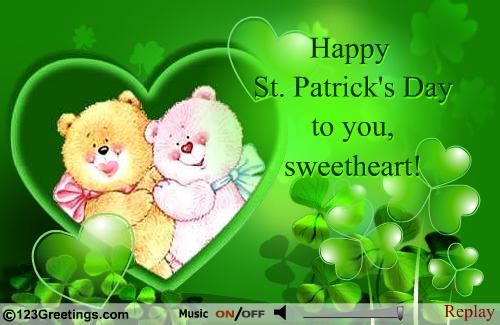 Happy St. Patrick's Day To You Sweetheart Wishes Quotes Image