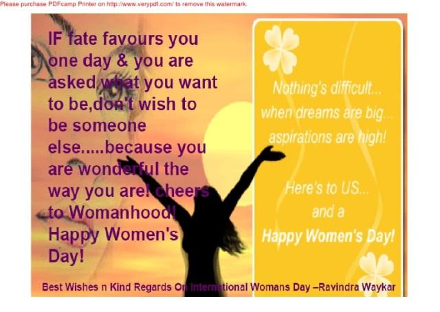 Happy Women's Day Quotes Image