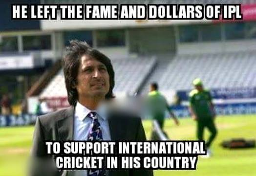 He left the fame and dollars of ipl to support Cricket Memes