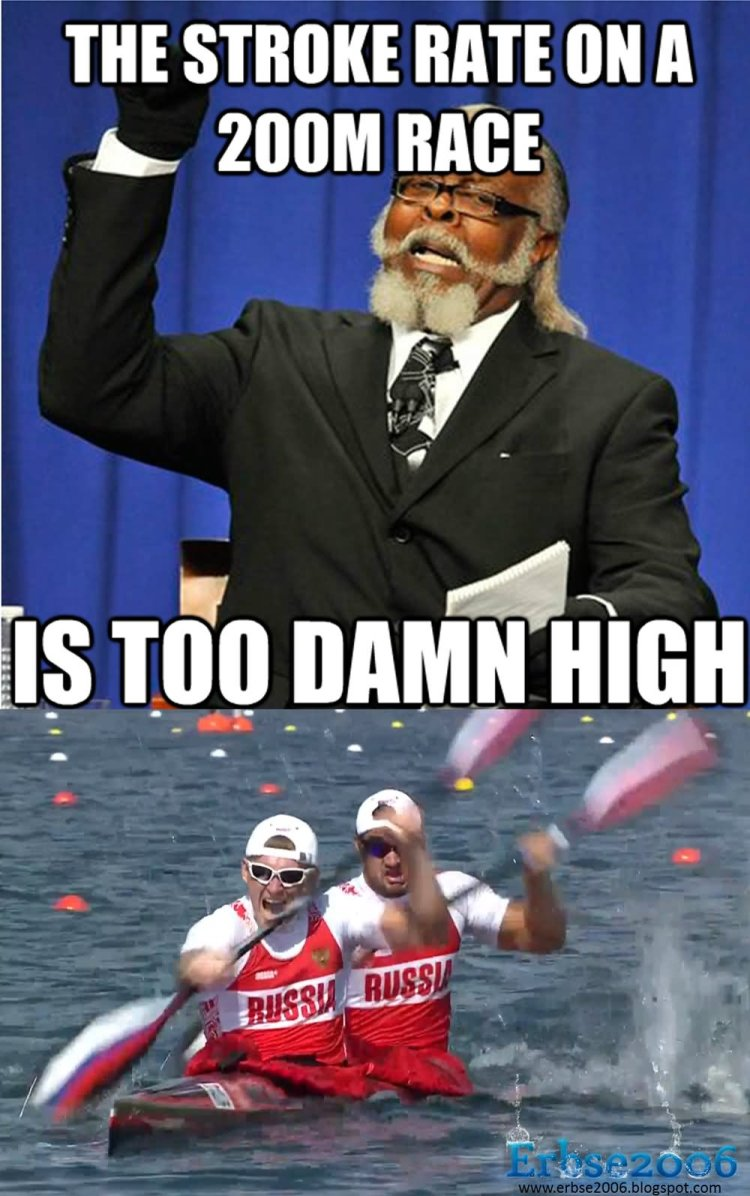 High Memes The stroke rate on a 200m race is too damn high