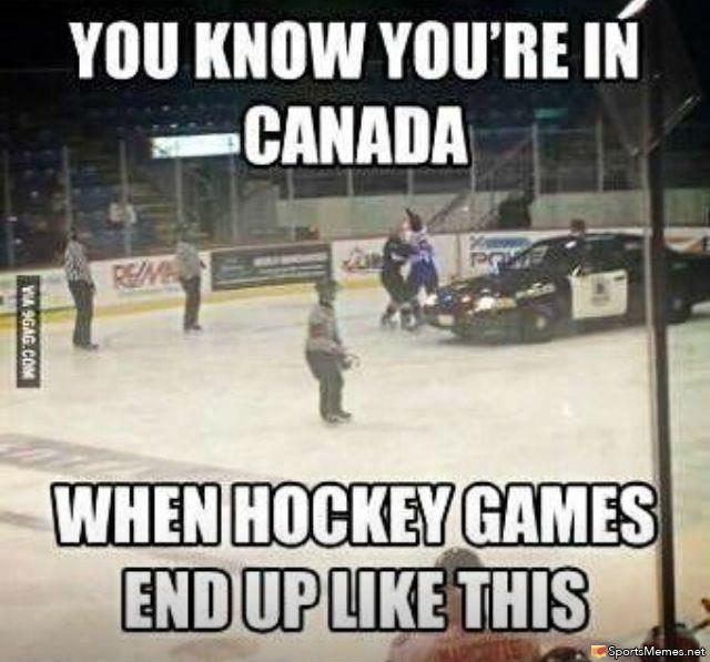 Hockey Memes You know you're in canada when hockey