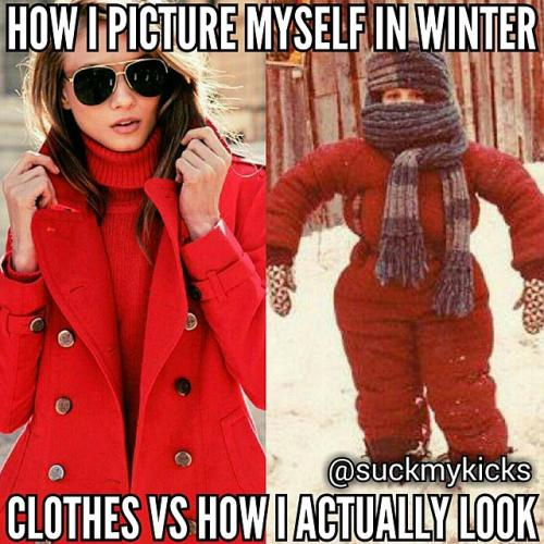 How i picture myself in winter clothes Dress Meme
