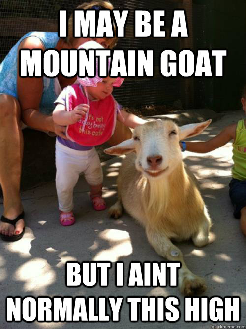 I may be a mountain goat but i ain't normally Fight Meme