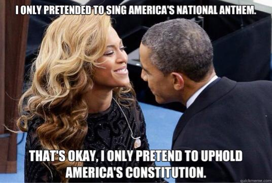 I only pretended to sign america's national anthem Obama Meme
