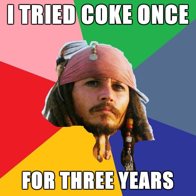 I tried coke once for there years Drugs Meme