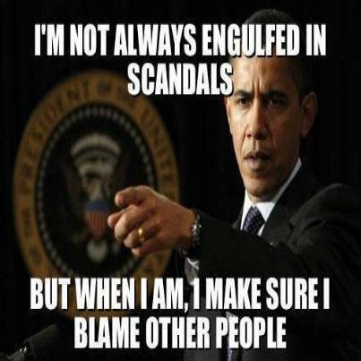 Im not always engulfed in scandals Obama Meme