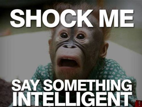 Insult Meme Shock me say something intelligent