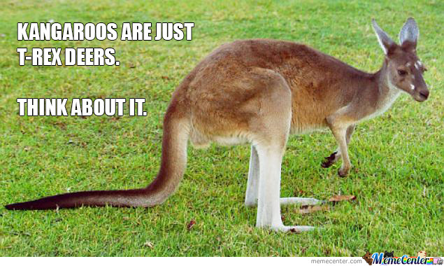 Kangaroos are just trex deers Kangaroo Meme