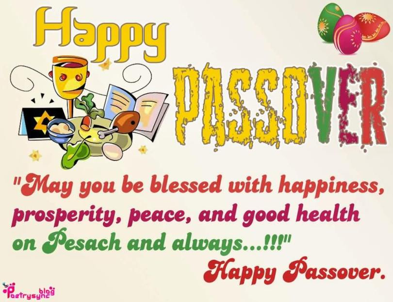 May You Blessed With Happiness Happy Passover Wishes Message Image