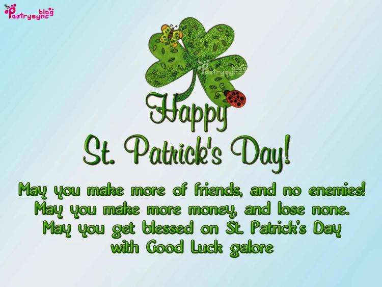 May You Get Blessed On St. Patrick's Day