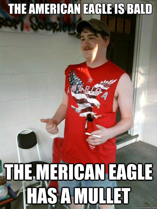 Mullet Meme The American eagle is bald
