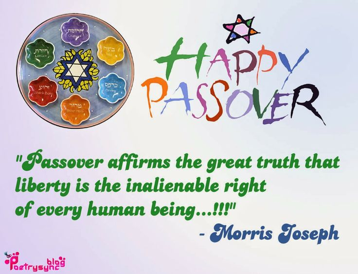 Passover Affirms The Great Truth That Liberty Is The Inalienable Right Of Every Human Being Morris Josep Quotes