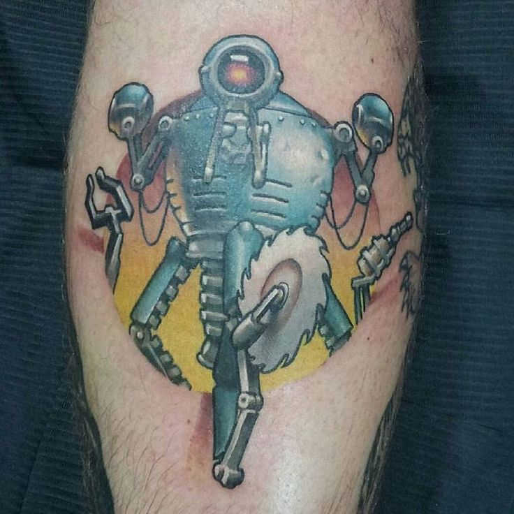 Perfect Fallout Tattoo On leg for boy