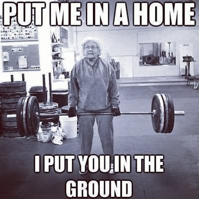 Put me in a home i put you in the Exercise Meme