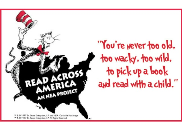 Read Across America Day You're Never Too Old Too Wacky Too Wild To Pick Up A Book And Read With A Child