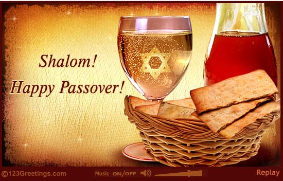 Shalom Happy Passover Wishes Message Image