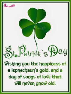 St. Patrick's Day Wishing You The Happiness Of Day Quotes Image