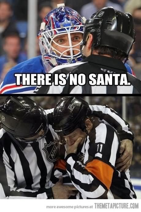 There is no Santa Hockey Memes