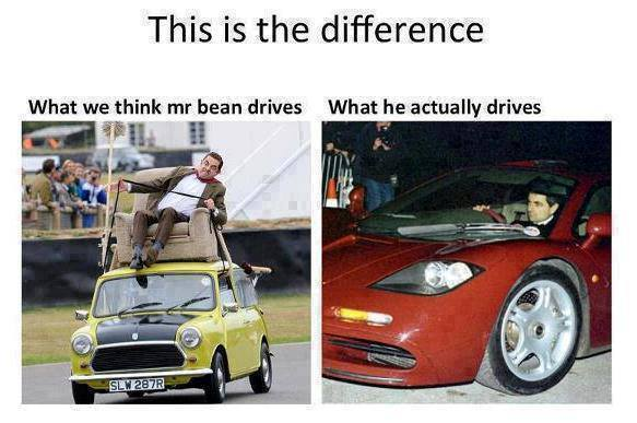 This is the difference what we Mr Bean Meme