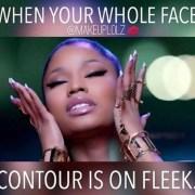 When your whole face contour is on fleek Make Up Meme