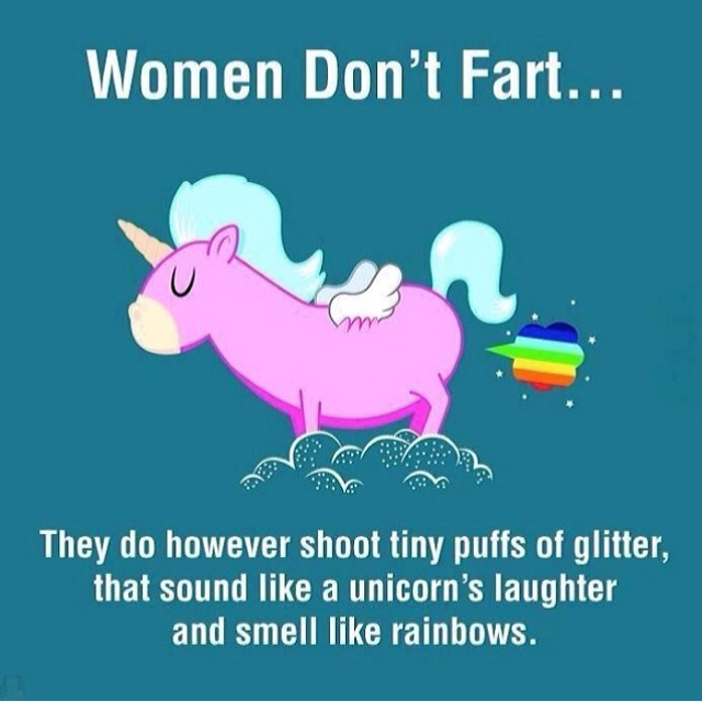 Women don't fart they do however shoot tiny puffs of Fart Meme