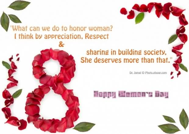 Wonderful Happy Women's Day Wishes E card