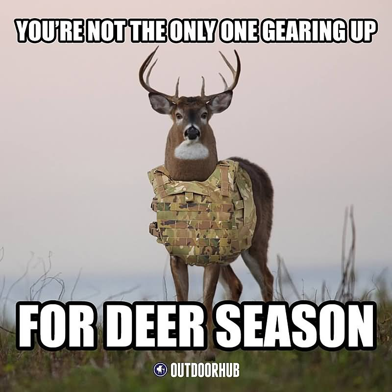 You're not the only one gearing up for Hunting Meme