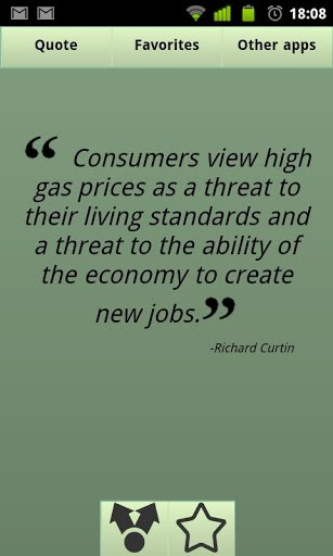Ability Quotes Consumers view high Gas prices as a threat to