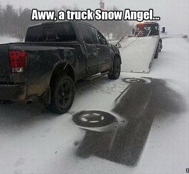 Aww a truck snow angel Space Memes