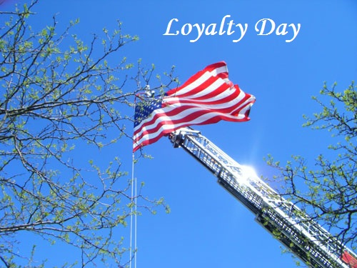 Best Wishes Loyalty Day United State Flag Image