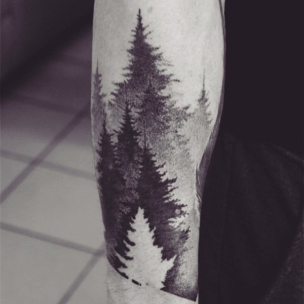 Charming Forest Tattoos On arm for men