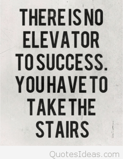 College Quotes There is no elevator to success you have to take