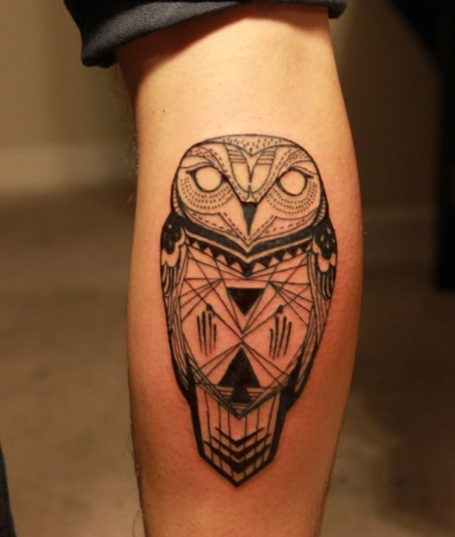 Creative Calf Tattoos On leg for guy