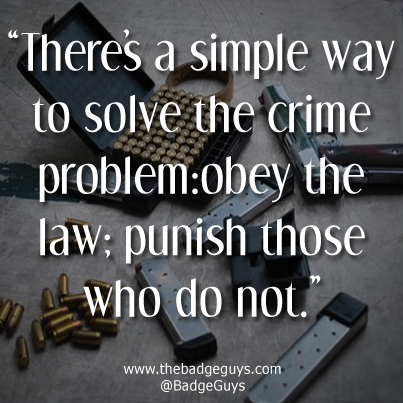 Criminal Quotes There's a simple way to solve the crime