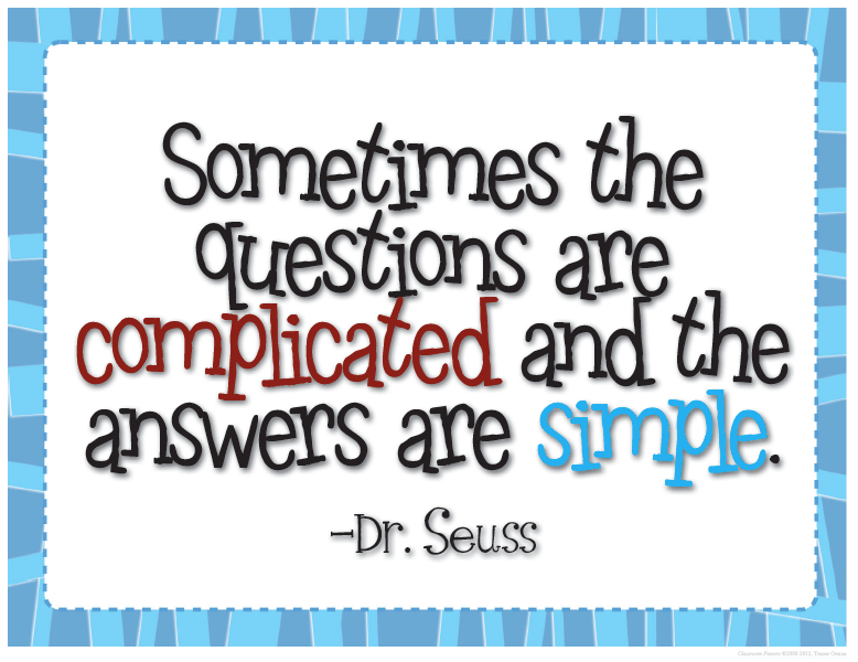 Dr Seuss Quotes sometimes the questions are complicated and