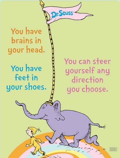 Dr Seuss Quotes you have brains in your head you can steer