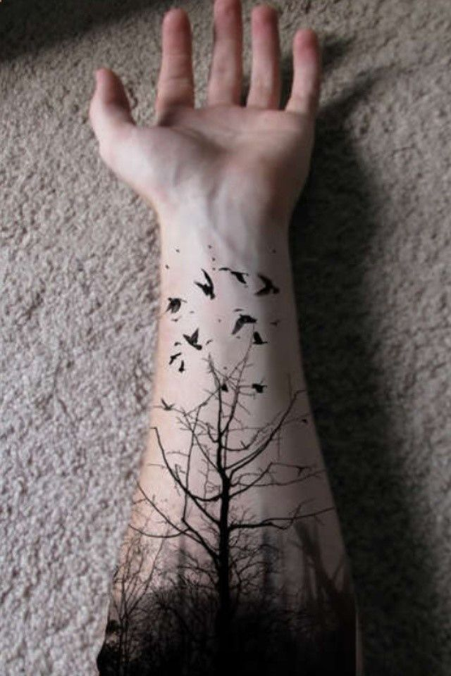Extremely Forest Tattoos For men's arm