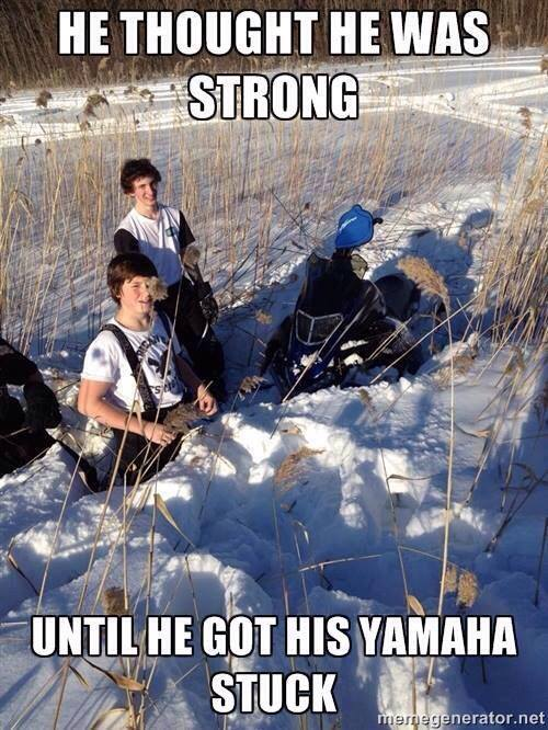 He thought he was strong until he got Sled Meme
