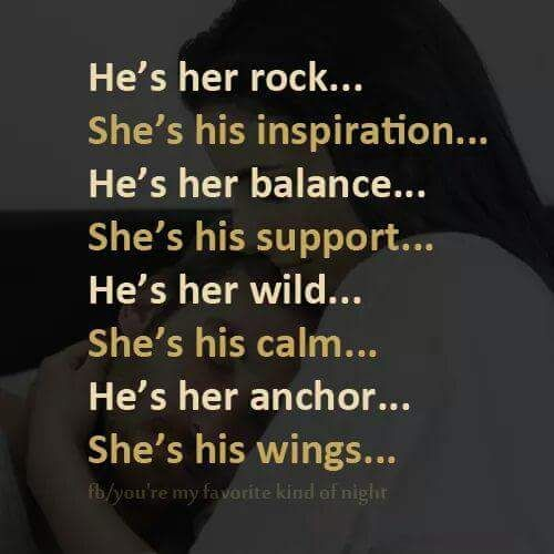 He's her rock she's his inspiration he's her balance she's Relationship Meme