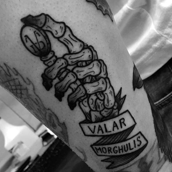Innovative Game Of Thrones Tattoos for leg