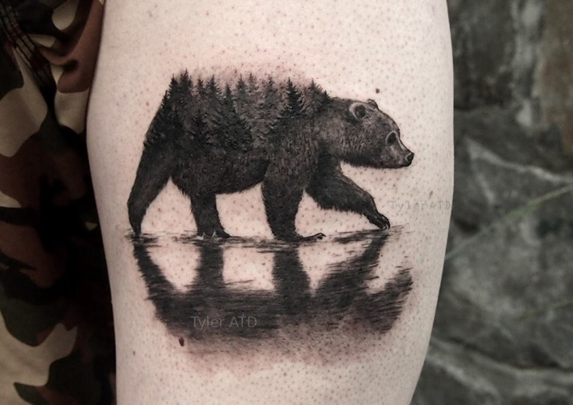 Inspiring Forest Tattoos On Arm for boy